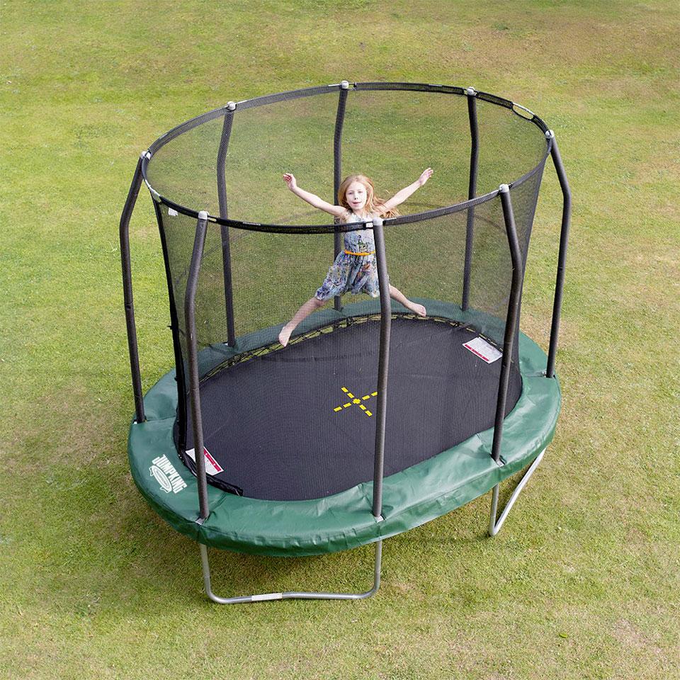 oval trampolin ovalpod 9 3 m jumpking trampoliner. Black Bedroom Furniture Sets. Home Design Ideas