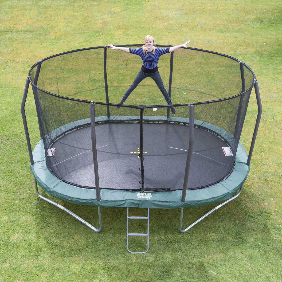 oval trampolin ovalpod 13 4 m jumpking trampoliner. Black Bedroom Furniture Sets. Home Design Ideas